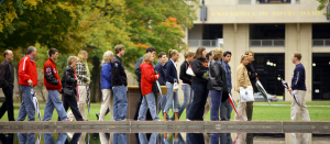 Students visiting college campuses